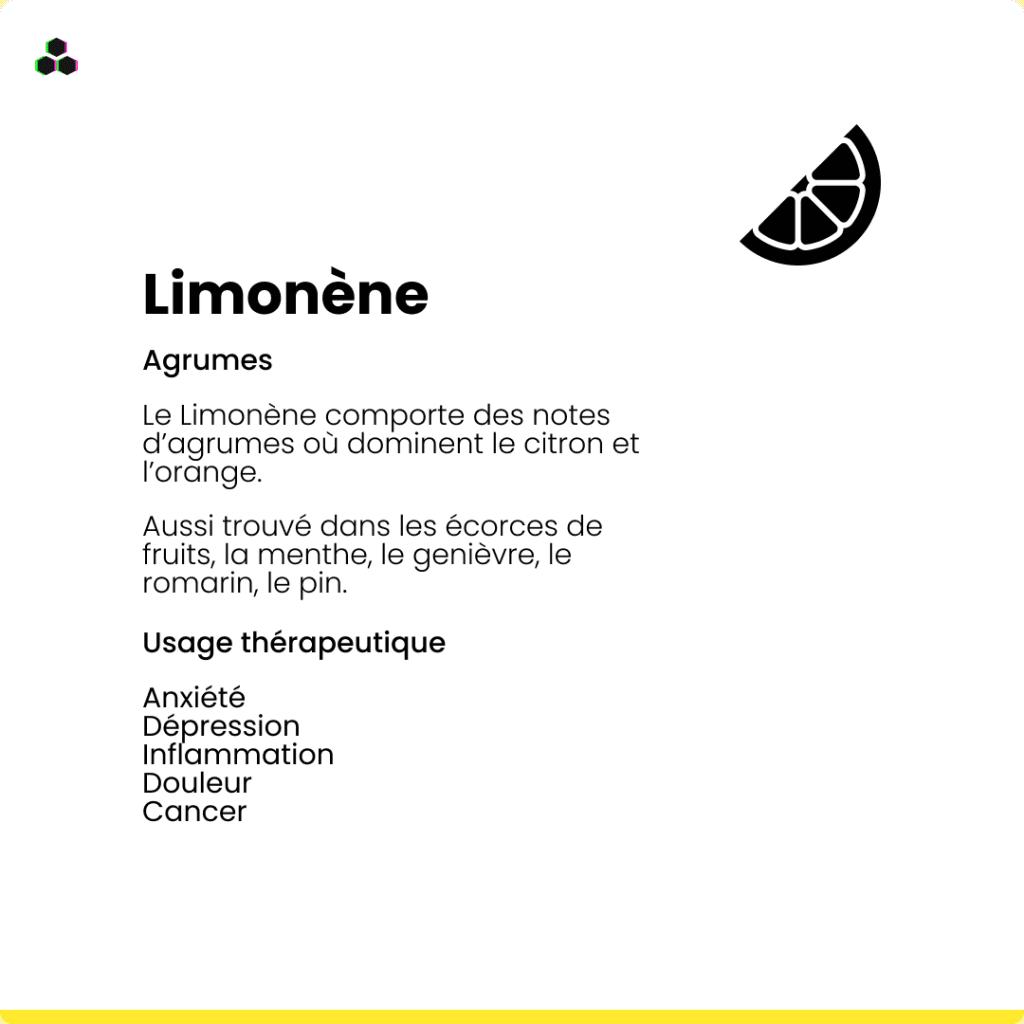 Le terpène du cannabis Limonène