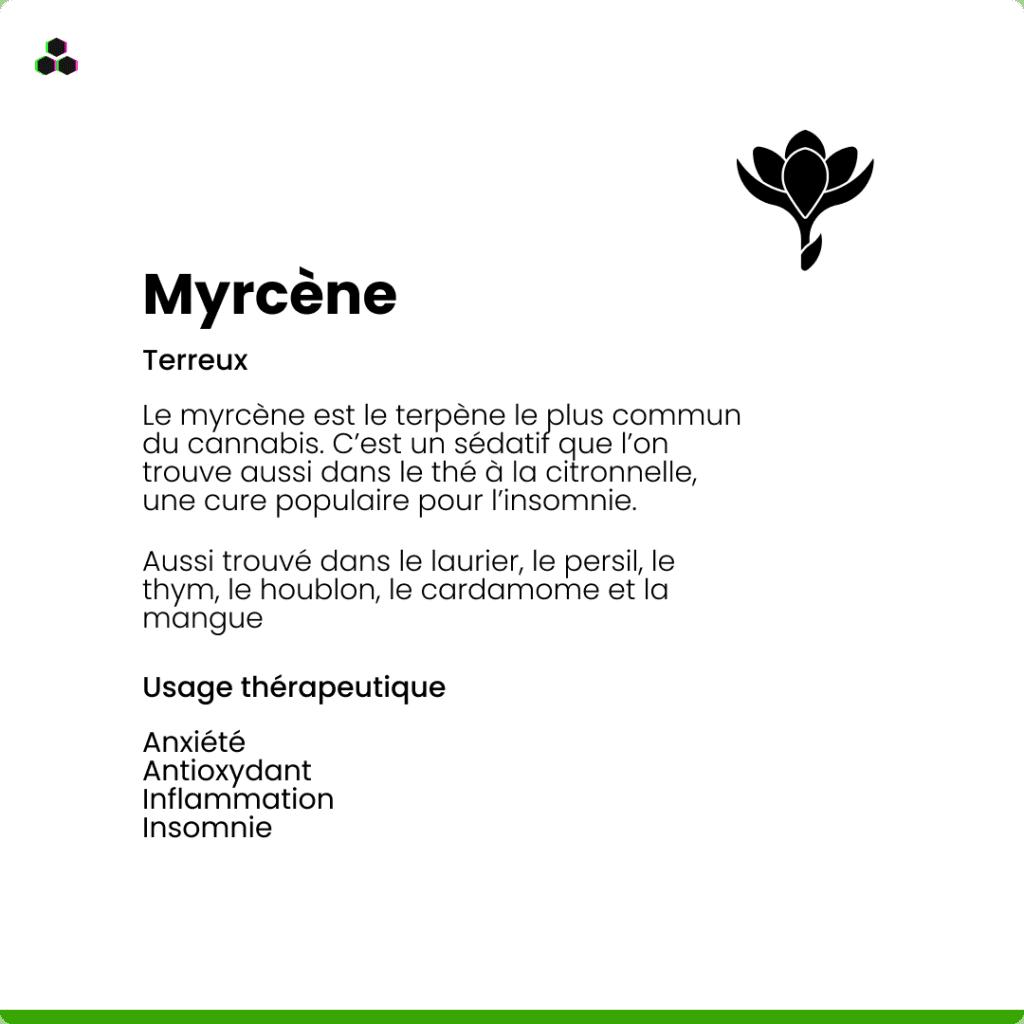 Le terpène du cannabis Myrcène